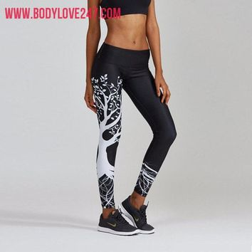 Women Fashional Elastic  Compression Sports Gym Leggings
