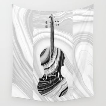 Marbled Music Art - Violin - Sharon Cummings Wall Tapestry by Sharon Cummings
