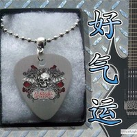 Avenged Sevenfold Metal Guitar Pick Necklace Boxed Music Festival Wear