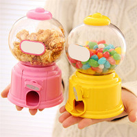 LS4G Cute Sweets Mini Candy Machine Bubble Gumball Dispenser Coin Bank Kids Toy Children Gift