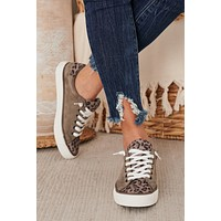 IMPERFECT Keep On Smiling Leopard Sneakers (Grey)