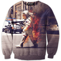 Astronaut on Fire Crewneck