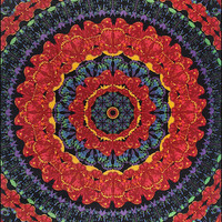 3D - Blooming Butterfly Mandala - Tapestry