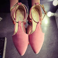 2016 NEW Fashion Woman Flats spring summer Women Shoes high quality T-strap women sandals suede Casual Comfortable Flat ALF192