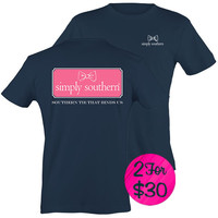 """*Simply Southern """"Preppy Harbor"""" T-shirt"""