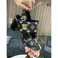 LV 2019 new classic old flower female models with thick single shoes #2