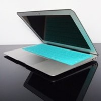 """TopCase SOLID TEAL Keyboard Silicone Cover Skin for Macbook AIR 11"""" A1370 from Late 2010 - Mid 2011(JULY) with TOPCASE Logo Mouse Pad"""