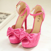 Fashion lovely Fish head bowknot sandals 1954LU