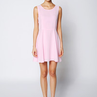 Plain Sleeveless Skater Mini Dress