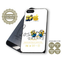 Despicable Me Minions Apple - iPhone 4/4s/5 Case - Samsung Galaxy S3/S4 Case - Black or White