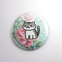 "NEKO ATSUME | Pickles the Cat | 1"" Magnet OR pinback button badge pin 