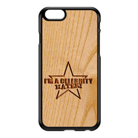 Carved on Wood Effect_Celebrity Hater Black Hard Plastic Case for iPhone 6 by Chargrilled