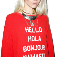 Wildfox Couture Say Hello To Everyone Roadtrip Sweater Dress India Poly