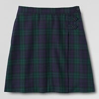 School Uniform Plaid A-line Skirt Below the Knee from Lands' End