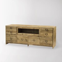 Hughes Media Console - traditional - media storage - by West Elm