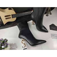 ysl women casual shoes boots fashionable casual leather women heels sandal shoes 36