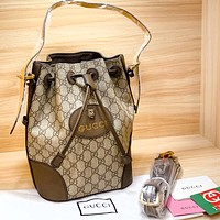 Gucci Marmont Double G Tiger Head Bucket Bag Bronze