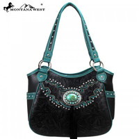 Montana West MW15-8110 Tooling Concho Handbag