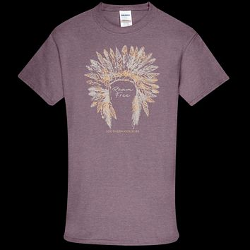 Southern Couture Soft Collection Roam Free front print T-Shirt