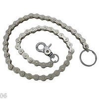 "15"" Chrome Plated Bike Chain Link Wallet Chain Jeans-Biker wallet bike chain"