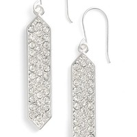Women's Lauren Ralph Lauren Pave Drop Earrings - Silver/ Crystal