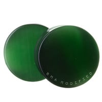Cat Eye Green Glass Plugs (3mm-25mm)