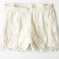 AEO Women's Lace Soft Short (Cream)