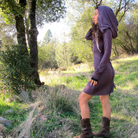 Hooded Mini Nienna Dress - Elven Tunic