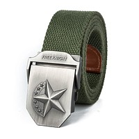 Top Quality Canvas Belt Strong Knight Buckle Military Belt Army Tactical  Belt For Men And Women Jeans
