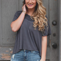 Scenic Route Top - Charcoal