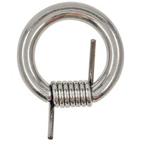 "14G 1/2"" 316L Steel Barbwire Captive Ring"