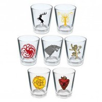 Game of Thrones House Sigil Shot Glasses [Set of 7]