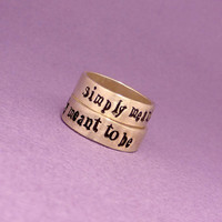 Nightmare Before Christmas Inspired - Simply Meant To Be - Solid Sterling Silver Wedding Bands, His and Hers Rings