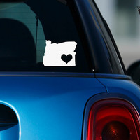 Oregon Pride I Heart My State Art Vinyl Decal Sticker for Car Suv Laptop Notebook Auto Great Gift Mac PC Computer