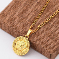 Gold Versace Chain Medusa Alloy Necklace