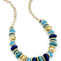 Style&co. Necklace, Gold-Tone Blue Bead Necklace - All Fashion Jewelry - Jewelry & Watches - Macy's