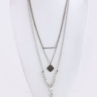 Feather Mix Charm Necklace