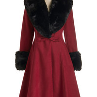 ModCloth 40s Long Long Sleeve Bundled in Bliss Coat