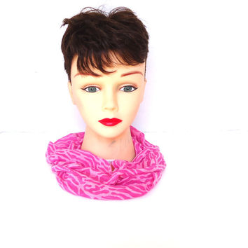 Hot pink infinity scarf, small scarf, summer scarf, accessories, ladies clothing, hot pink