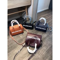 Balenciaga new letter print pillow bag handbag shoulder bag messenger bag