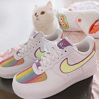 Nike Air Force 1 Easter Popular Women Leisure Laser Sport Running Shoes Sneakers