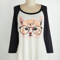Quirky Mid-length 3 Purr-fect Vision Top