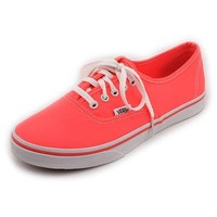 Vans Authentic Lo Pro Womens Pink Sneakers Canvas Sneakers Shoes UK 4.5