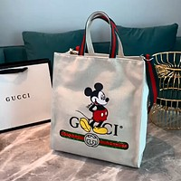 GUCCI x DISNEY Joint Simple Canvas Tote Shopping Bag Shoulder Bag