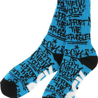 DGK Getting Up Crew Socks Turquoise/Black 1pair