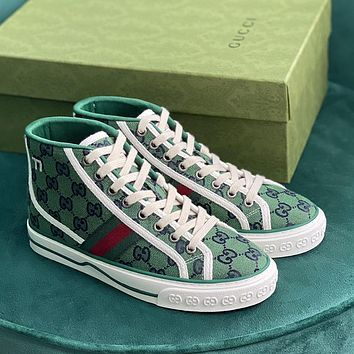GUCCI GG Tennis 1977 High Top Multicolor Sneakers Shoes