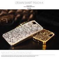 Dower Me Fashion Chrome Crystal Diamond Case For Iphone 6 7 8 Plus 5S 5C For Samsung Galaxy Note 5 4 3 S8/7/6 Edge Plus S5/4