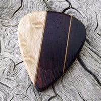 Handmade Multi-Wood Premium Guitar Pick - Actual Pick Shown - No Stock Photos
