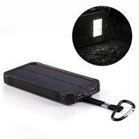 Portable Solar Phone Charger - Sunferno 5000mah Dual USB External Power Bank - weatherproof Battery Pack for Iphone, Cell Phone, Ipad, USB Devices