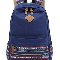Leaper Casual Style Lightweight Canvas Backpacks School Backpack